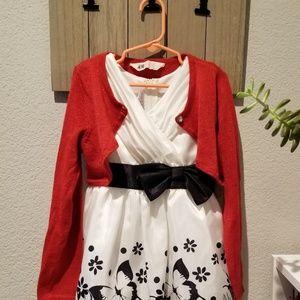 White dress. 5T Toddler girl kinder. with Bolero.